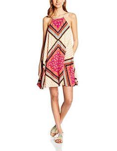 Vestido Mini casual con estampado  floral de color naranja, super bonito y a un muy buen precio.  DESCUENTO > hasta > 55%   ENVIO GRATUITO