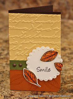 iEmbellish: Autumn Leaves Card Kit Samples