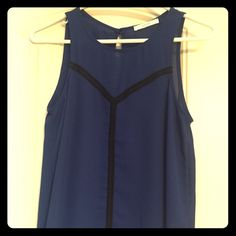 Lush blue tank Royal blue tank with black detail 100% polyester. Never worn purchased from Nordstrom Lush Tops Tank Tops
