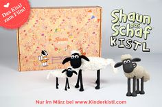 Shaun das Schaf zum Selber-Basteln! Jetzt in deinem Kinderkistl. Snoopy, Fictional Characters, Art, Shaun The Sheep, Childrens Gifts, Sheep, Diy Crafts, Kunst, Fantasy Characters