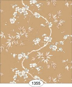 Wallpaper - Japanese Dogwood Vine - Gold [WAL1355] - $0.00 : itsy bitsy mini, Wholesale & Retail Dollhouse Wallpaper & Accessories