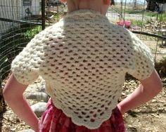 Crochet Shrug for Children Crochet Bolero PDF PATTERN #AF1221 | CopperLlamaStudio - Patterns on ArtFire