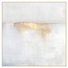 Fog Mist Sea Grey Abstract Canvas - II | Kathy Kuo Home