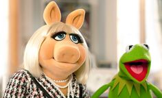 kermit,  the frog & miss piggy from  the muppets
