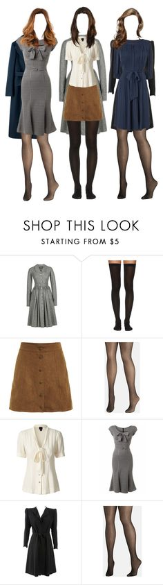 """""""Untitled #6610"""" by aurorazoejadefleurbiancasarah ❤ liked on Polyvore featuring Lena Hoschek, Wolford, Avenue, Orla Kiely, Stop Staring! and Jaeger"""