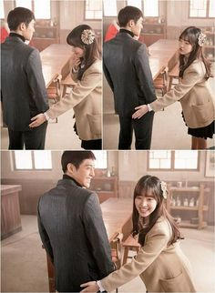 Jin Se Yeon has 'naughty hands' on Kim Hyun Joong on the set of 'Generation of Youth'