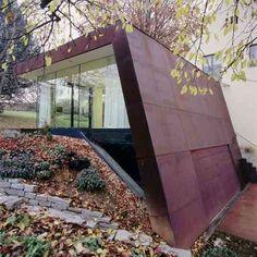 idée d'agrandissement de maison design en acien corten