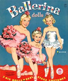I kept most of my old paper dolls and I still have this set!  #Ballerina #paper #dolls
