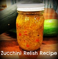 Turn Large Zucchini into a yummy sweet zucchinni relish Zucchini Relish Recipes, Vegetable Recipes, Canning Sweet Pickles, Easy Summer Meals, Summer Food, Pickle Relish, Recipe For Mom, Canning Recipes, Stuffed Green Peppers