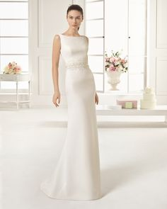 Vestido de noiva simple Satin Sexy V-back Ivory Wedding Dress with Detachable Train 2016 Anxia Beading Sequined Cheap Bride Gown Aire Barcelona Wedding Dresses, Informal Wedding Dresses, Formal Evening Dresses, Vintage Hippie, W Dresses, Bridal Dresses, Bride Gowns, Wedding Gowns, Ivory Wedding