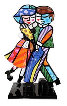 "More Romero Britto--Cheek To Cheek 2010 Mixed media sculpture 28"" x 20"" x 8"" Edition of 50"
