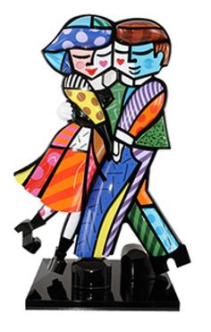 "More Romero Britto--Cheek To Cheek 2010 Mixed media sculpture 28"" x 20"" x 8"" Edition of 50"