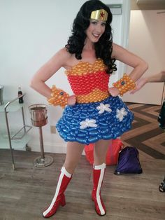wonder woman balloon  dress