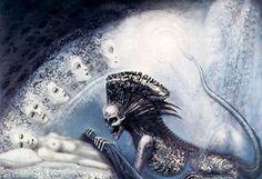 HR Giger Art Poster Print Biomechanical Landscape DEATH Skull Alien Baphomet in Art | eBay