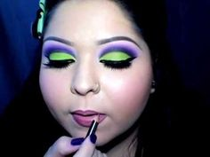green & purple eyeshadow