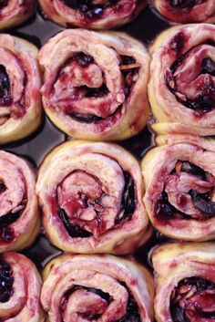 Cherry Morning Rolls - using the jam and frozen fruit offers many interesting alternatives - peach maybe?
