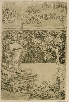 Alex Wahlbergin exlibris 1896