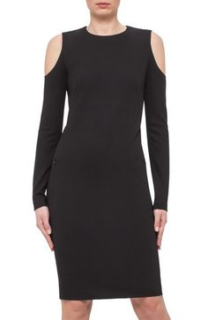Akris punto Cold Shoulder Body-Con Dress available at #Nordstrom