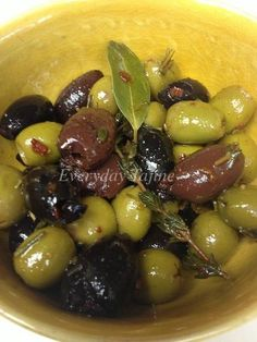 Moroccan food: Marinated Olives