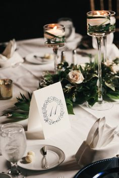 Beautiful and simple table numbers for your wedding reception from Third Clover Paper
