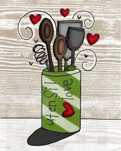 i heart kitchens print set-Buy both together and save von vol25