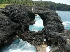 Volcanic beach at Ilheu das Rolas, Sao Tome and Principe (by Indabelle). Places Around The World, Oh The Places You'll Go, Places To Travel, Around The Worlds, Ghana Travel, Africa Travel, Seychelles, Uganda, Fantastic Voyage