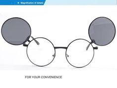Prince Mirror Double Flip Retro Sunglasses