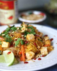 Spaghetti Squash Pad Thai - Get Off Your Tush and Cook #vegan #gf
