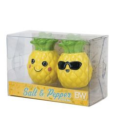 Look what I found on #zulily! Pineapple Smiles Salt & Pepper Shakers #zulilyfinds