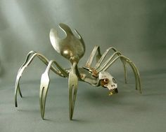 dragonflies made out of silverware   silverware by bridget.r.stokes