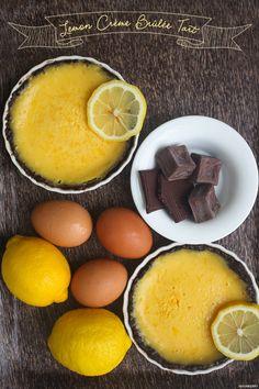 Recipe: Creme Brulee Recipe / Lemon Creme Brulee Tart with Chocolate Crust - tableFEAST Lemon Desserts, Lemon Recipes, Just Desserts, Dessert Recipes, Brulee Recipe, Sweet Pie, Eat Dessert First, Creme Brulee, C'est Bon