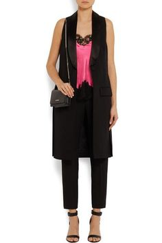 Givenchy - Camisole In Black Lace-trimmed Bright-pink Silk-satin - SALE20 at Checkout for an extra 20% off