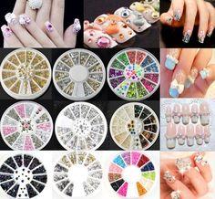 3D Hot Nail Art Rhinestones Glitters Acrylic Tips Decoration Manicure Wheel hs #UnbrandedGeneric