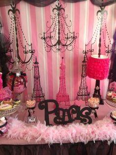 """Oh la la Paris "" Birthday Party Paris Themed Birthday Party, 10th Birthday Parties, Birthday Party Themes, Girl Birthday, 13th Birthday, Birthday Ideas, Happy Birthday, Pink Paris, Paris Paris"