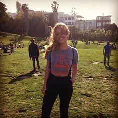Beauty @serenadondon in her #courtshop James Jeans. Dolores Park #mission #sanfrancisco Get it here: http://courtshop.com/store/james-aspen-black/dp/5023