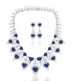 A SET OF SAPPHIRE AND DIAMOND JEWELRY, BY GRAFF