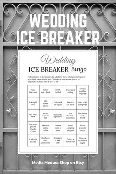 Bridal Shower Ice Breaker Game Gray Wedding Printable Human image 3