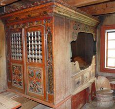 Built in old bed in Eidsborg Museum in Telemark, Norway.