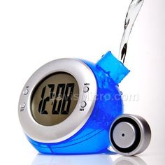 An Amazing Eco-Friendly Water-Powered Clock! Just fill the tank with natural tap water and it can run 8 to 12 weeks!