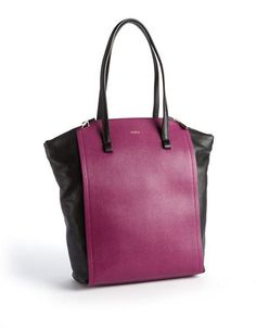 FURLA Odette Colorblocked Italian Leather Tote