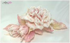 Rose handmade silk #silkflowers #millinery #rose #wedding #spring2016 #pink #fabric #Flower #handmade #accessories #art #Couture #MarinaKoneva #Flowalley
