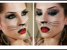 Passo a Passo - Sexy Cat para Carnaval (Sexy Cat Makeup Tutorial) less sexy and more cute but I like the idea for a future costume