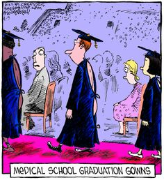 Medical School Graduation Gowns -- Speed Bump