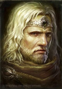 King Eléssar in his waning days... I actually love this picture. Even though He's fading, He is a regal King of Númenor. The Silver Dúnedain