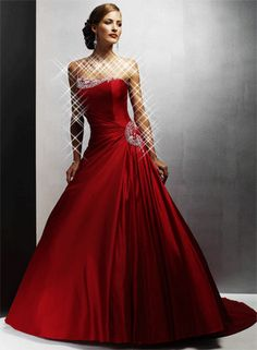 Stunning scarlet gown