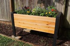 How to Make a DIY Raised Planter Box : 14 Steps (with Pictures) - Instructables Indoor Planter Box, Planter Box Plans, Raised Planter Boxes, Garden Planter Boxes, Indoor Garden, Cedar Fence Pickets, Trim Router, Home Vegetable Garden, Herb Garden