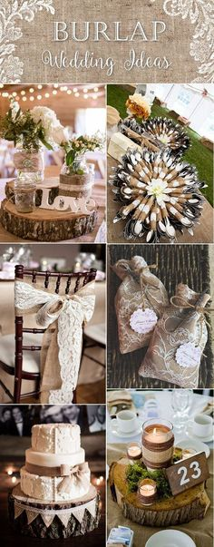 Top 20 Country Rustic Lace And Burlap Wedding Ideas (Including Invitations  And Favors)