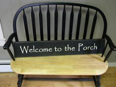 WelcomePorch sign