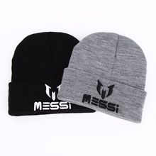 fa1cc7c6670 New Messi Winter Hat Barcelona Football Soccer Lionel Knitted Beanie Cap