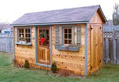 Design Your Own Shed - Visit CabanaVillage.com to use their online shed designer. Then, have them send you building plans or an easy-to-assmble kit.